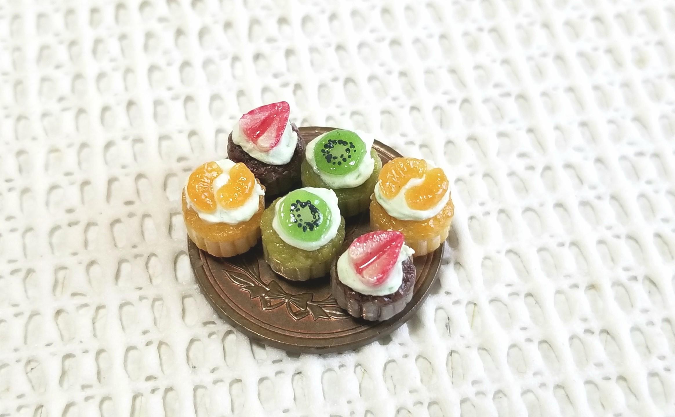 ミニチュア,カップケーキ,樹脂粘土,オビツろいど,ブライス