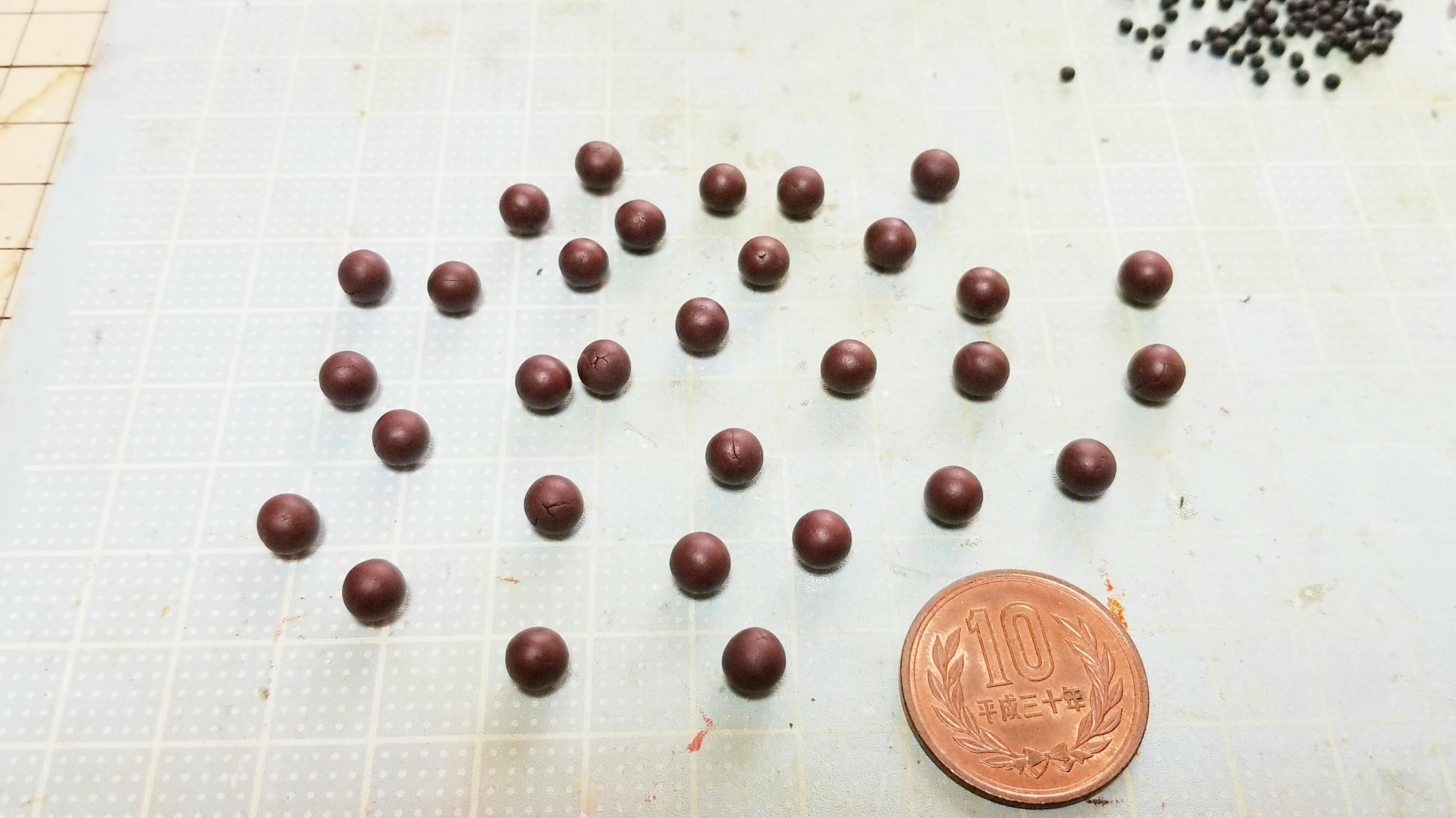 ミニチュアの作り方あんこ和菓子かわいい小さな世界手のひらサイズ物