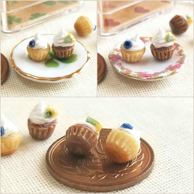 ミニチュアフード,ぷちカップケーキ,ドール小物,おもちゃ,樹脂粘土
