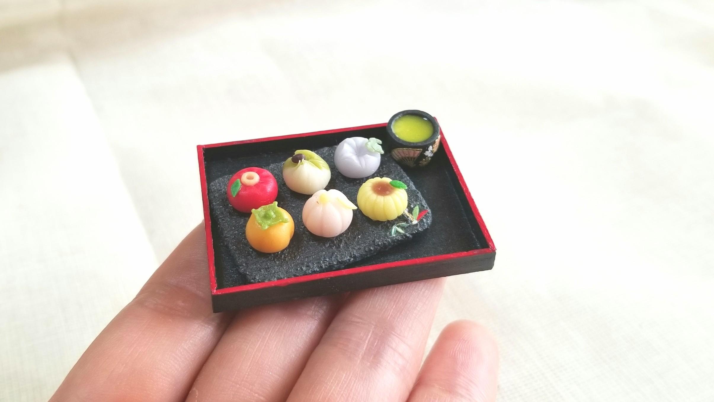 ミニチュア和菓子,樹脂粘土,かわいいドール小物,おもちゃ,おすすめ