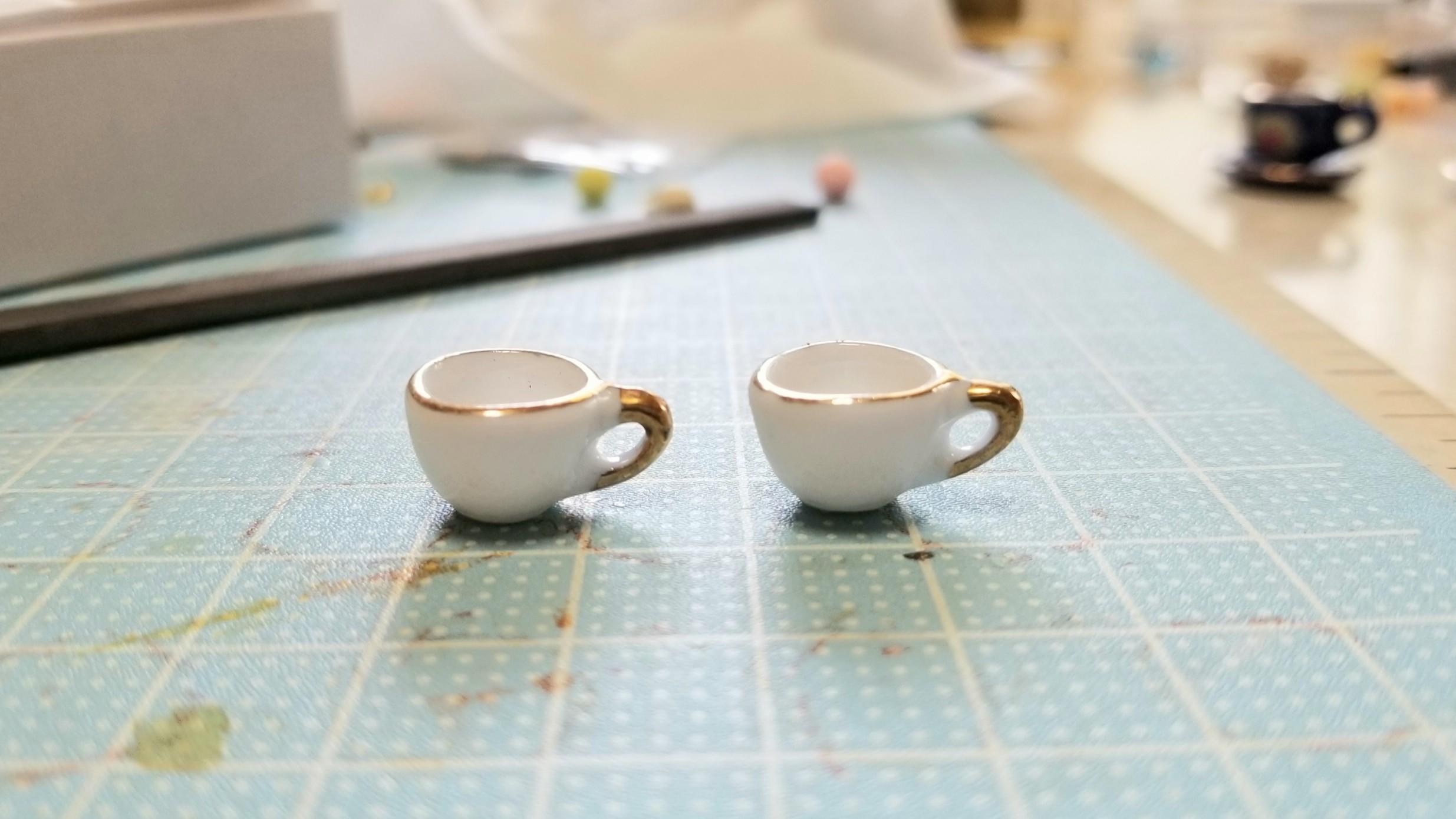ミニチュアフード陶器のティーカップ飲み物シンプルなドール用品小物