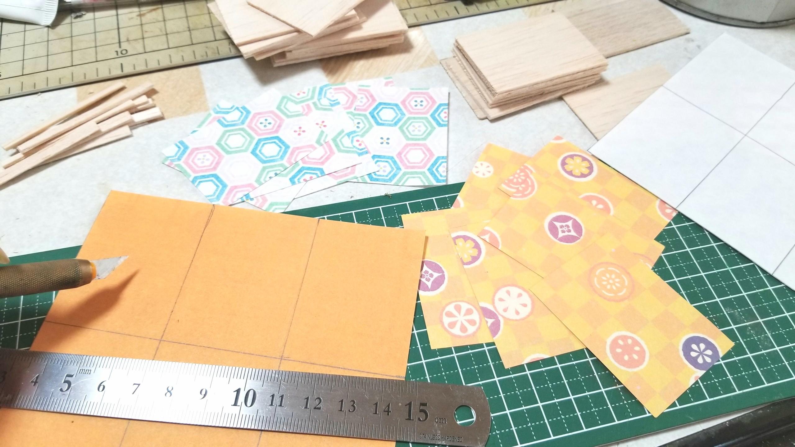 クリアケース,和菓子,台紙,土台,作り方,ミニチュアフード,千代紙