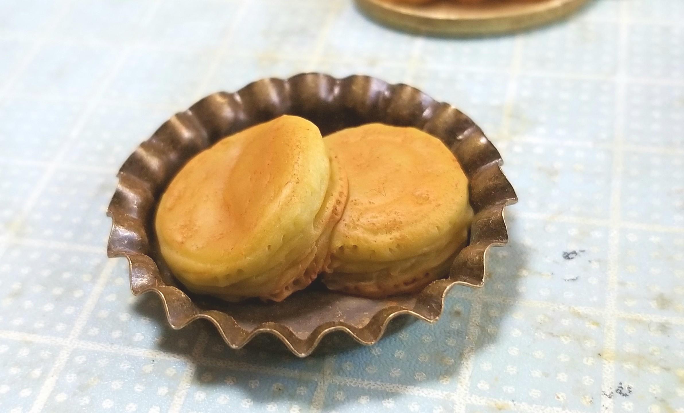 ホットケーキの作り方,ミニチュアフード,樹脂粘土,食品サンプル