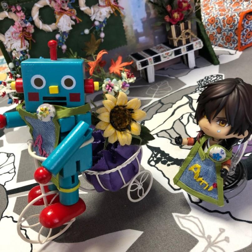 大俱利伽羅,ねんどろいど刀剣乱舞,ロボットと花屋,ドール小物