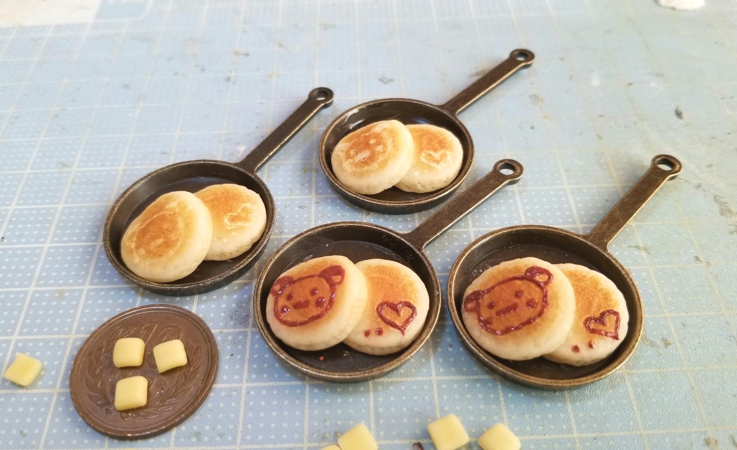 ミニチュアフード,ホットケーキの作り方,樹脂粘土,ハンドメイド