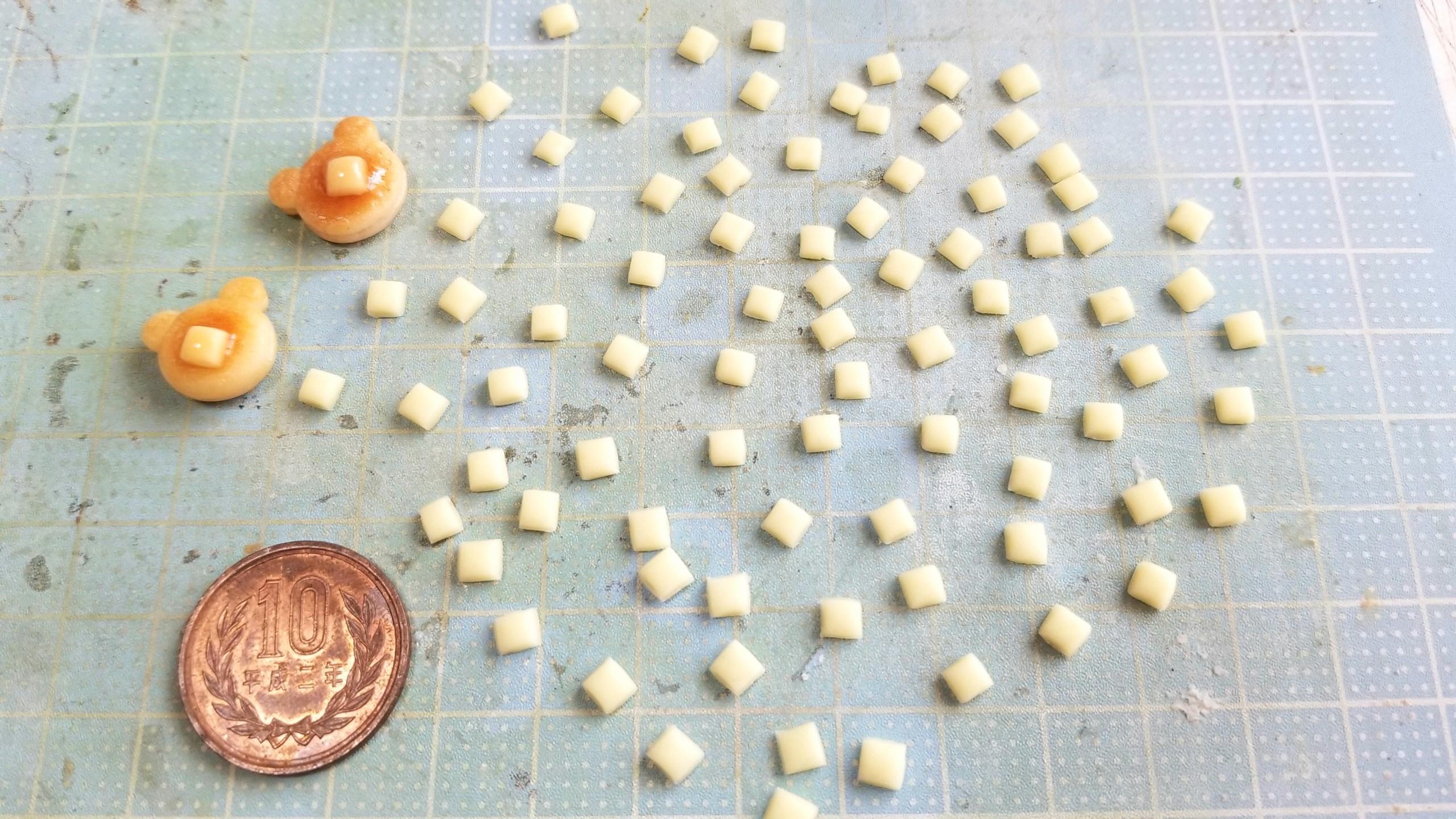 ミニチュアフード,バターの作り方,樹脂粘土,ドールハウス,フェイク