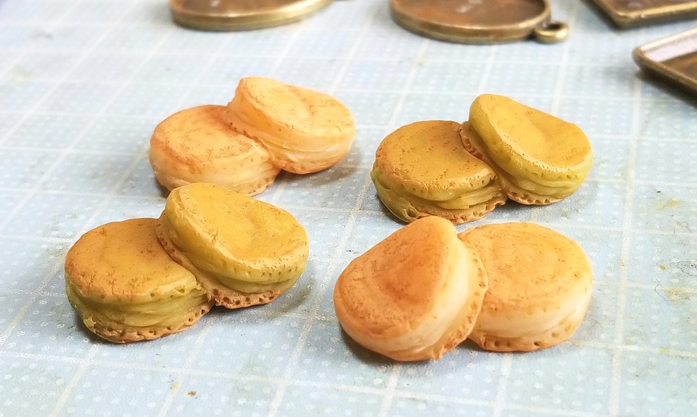ホットケーキの作り方,ミニチュアフード,樹脂粘土,ハンドメイド