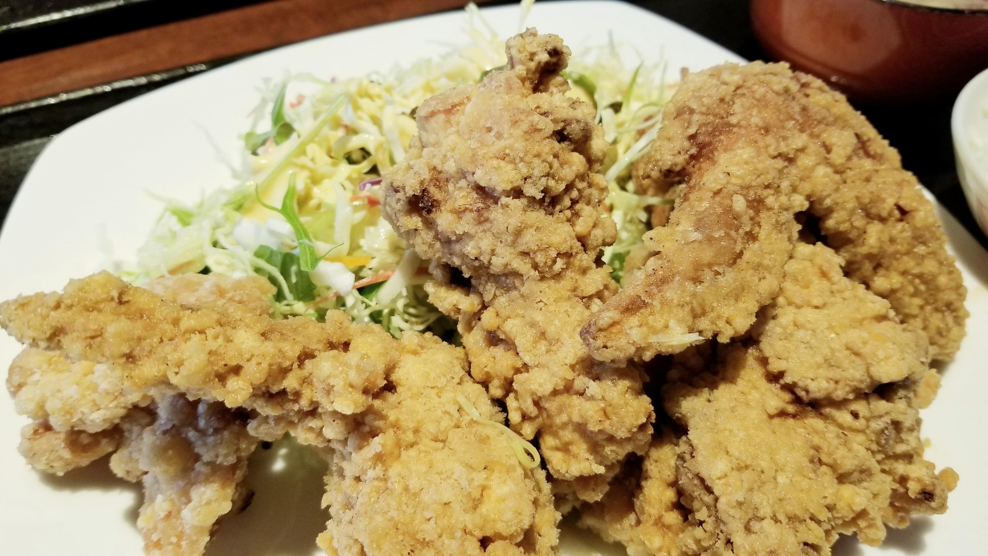 美味しいからあげ定食ミックスフライご飯おすすめランチグルメ