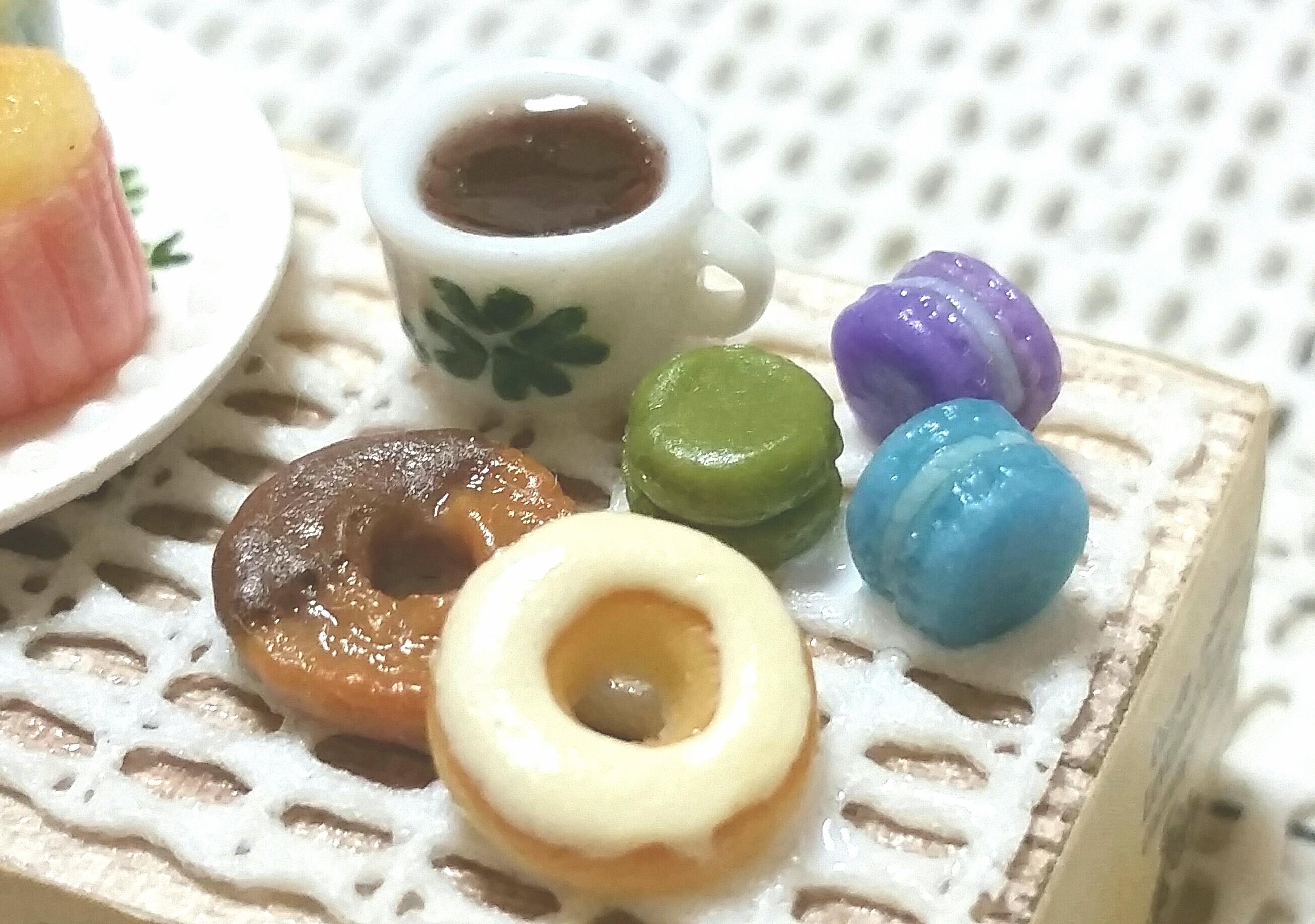 ドーナツ,人気おすすめマカロン,美味しそうお洒落な,樹脂粘土,ブログ