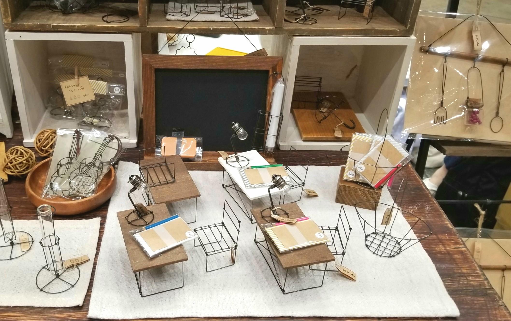 家具,インテリ雑貨, SUKIMA,すきま, ミニチュア, 針金アート
