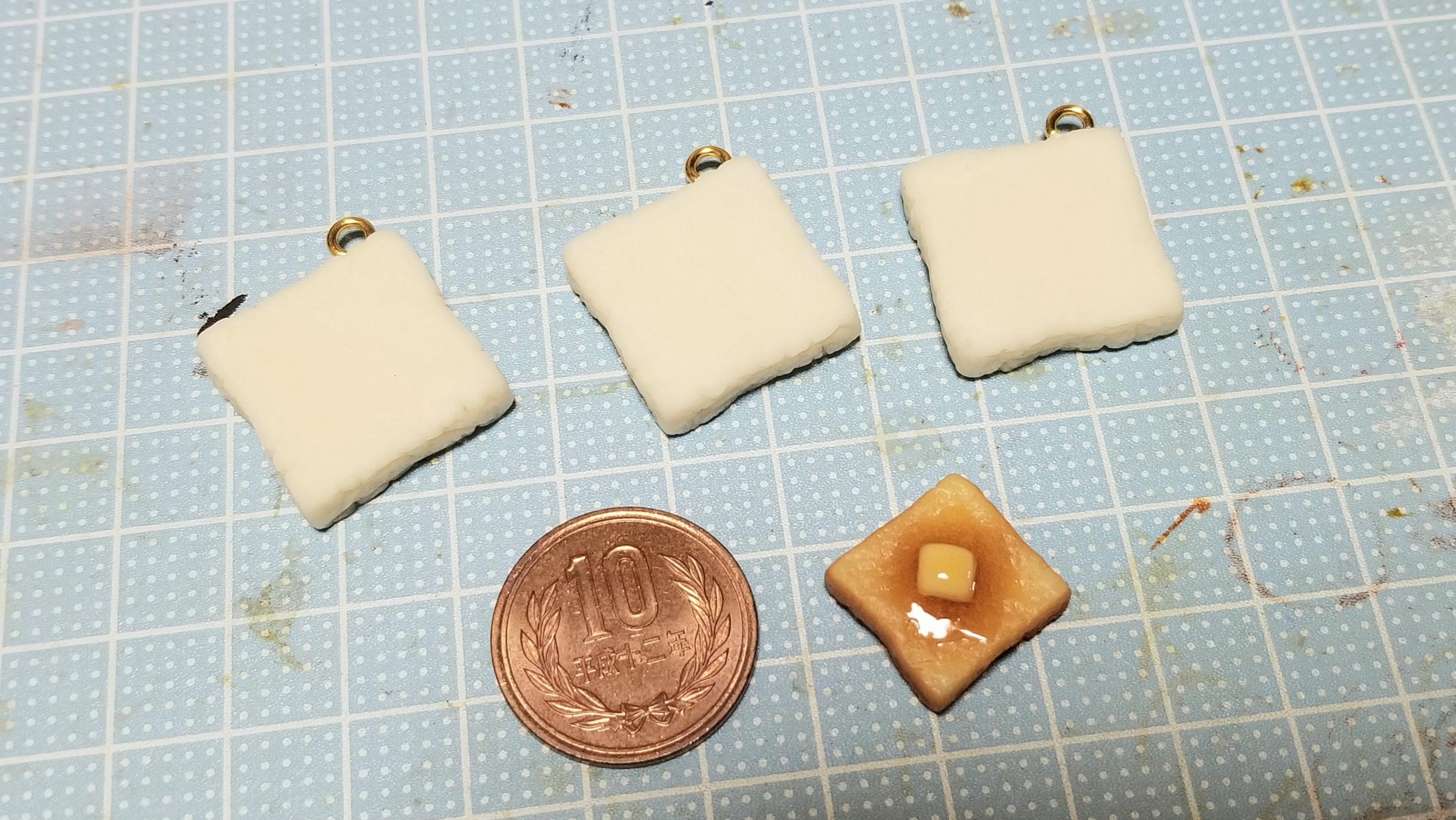 ミニチュアフード食パントースト樹脂粘土作り方美味しいミンネ人気