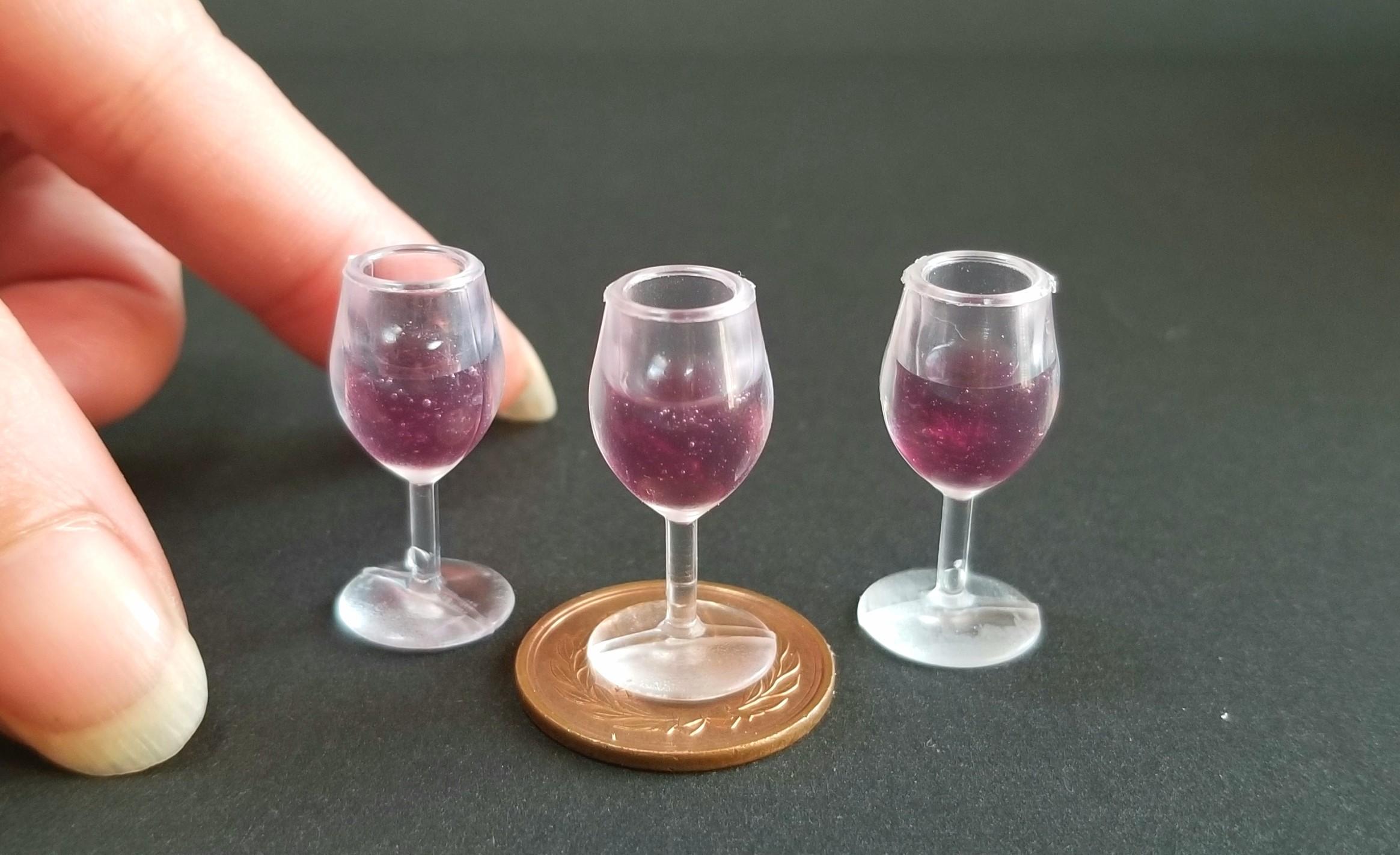 ミニチュア,赤ワイン,レジン,フェイクフード,シルバニア,オビツ11
