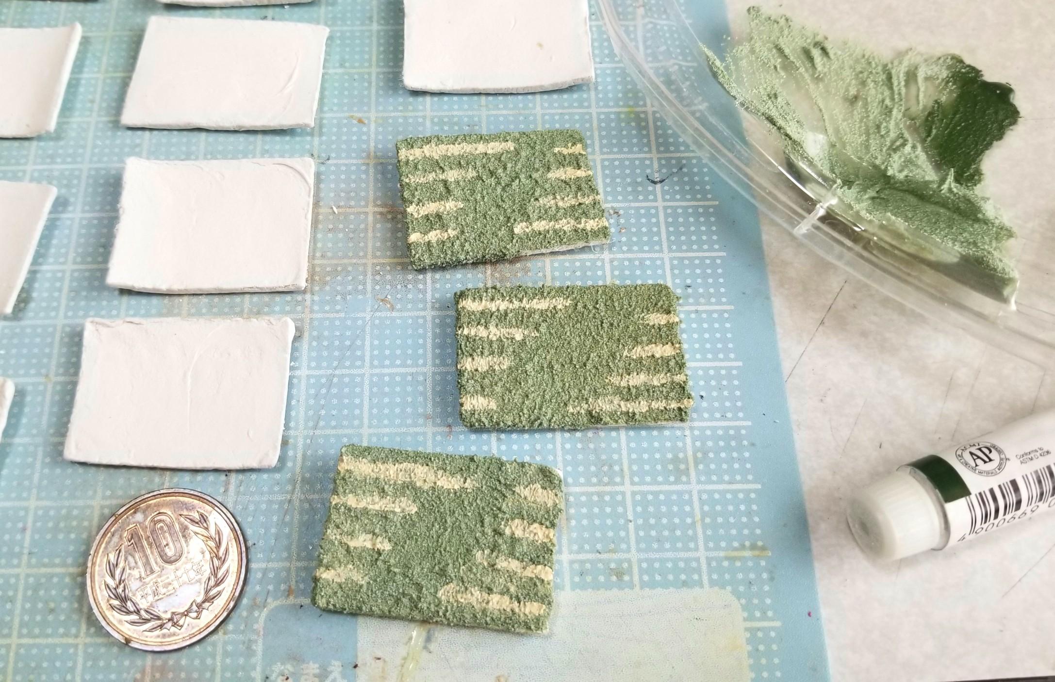 ミニチュア,和食器の作り方,お皿,陶器風,着色,石塑粘土,樹脂粘土