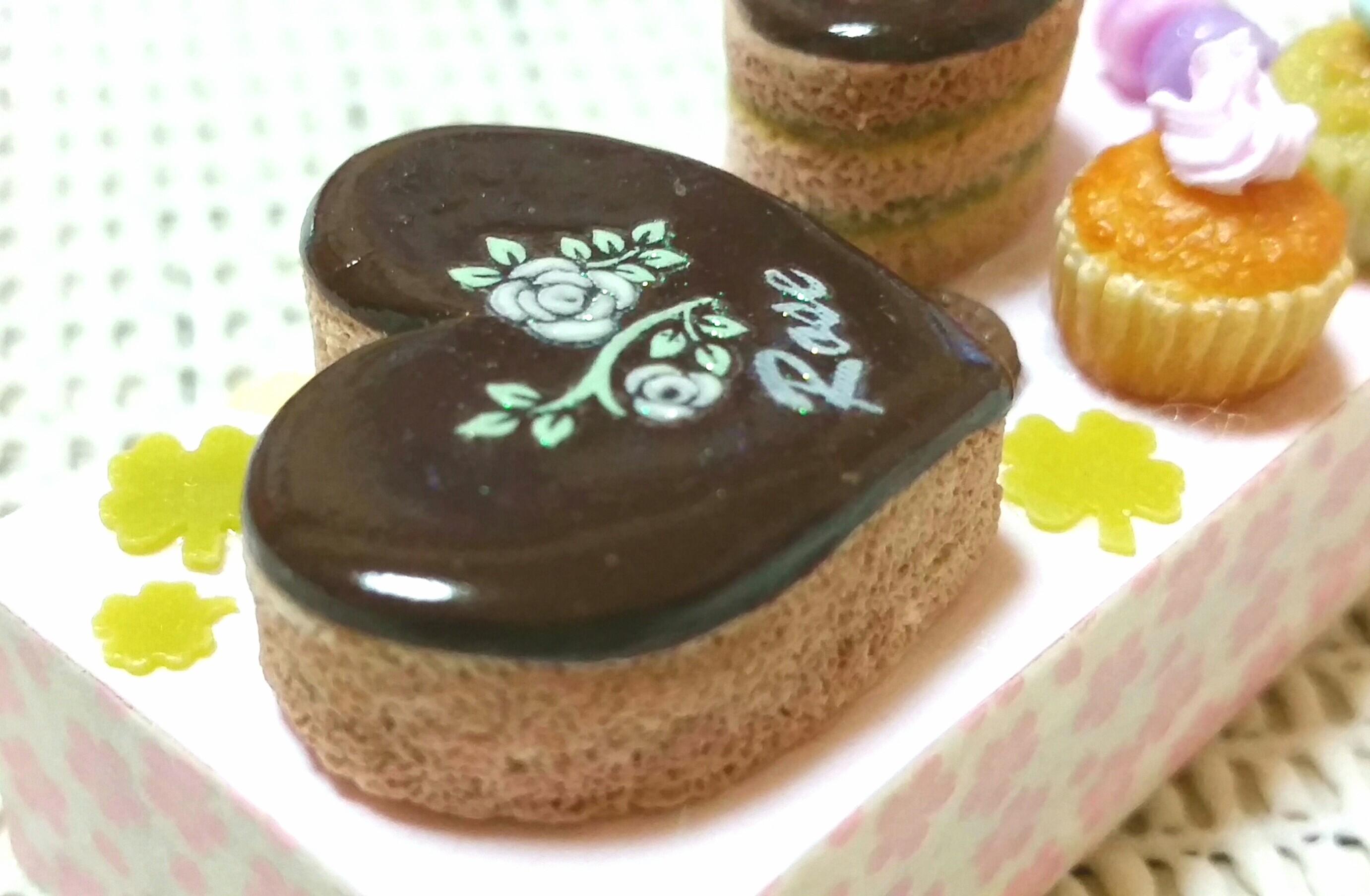 チョコレートケーキ,ミニチュアフード,樹脂粘土,美味しい,人気ブログ