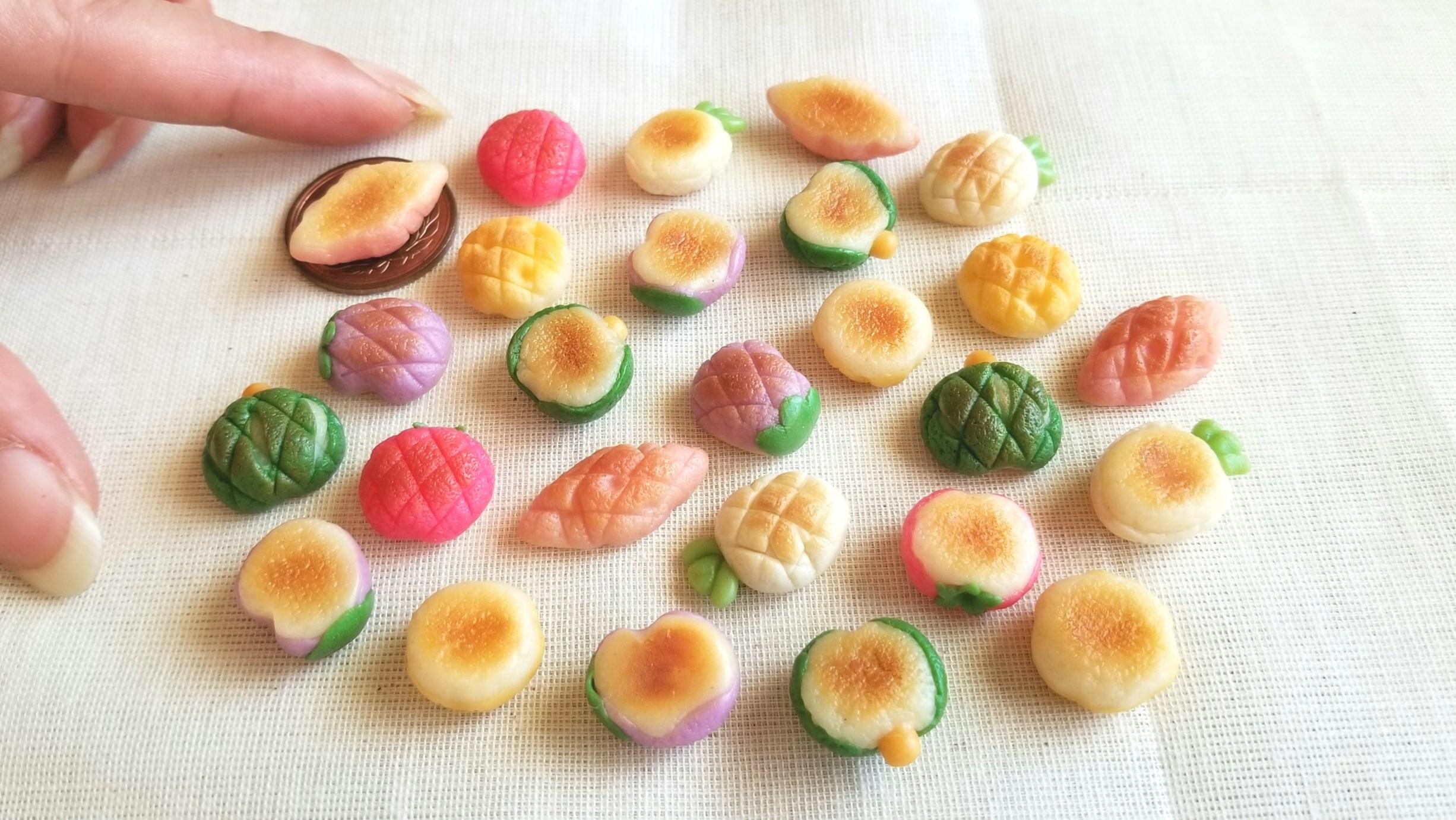 ミニチュアフード,野菜メロンパン,シルバニア,可愛い,オビツろいど