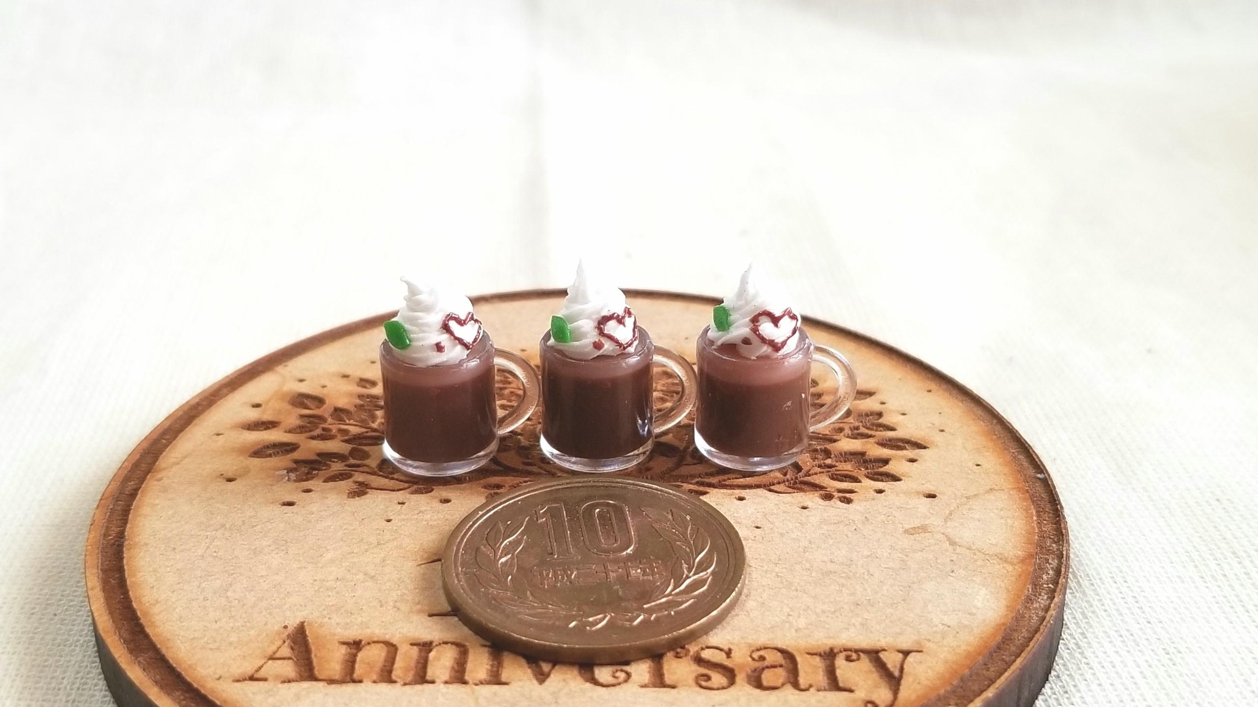 ミニチュア,チョコレートフロート,バレンタイン,ミンネで販売中