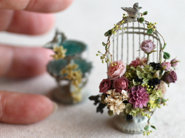 ミニチュアアートフラワー,おすすめ,樹脂粘土,リアル,本物みたい,花