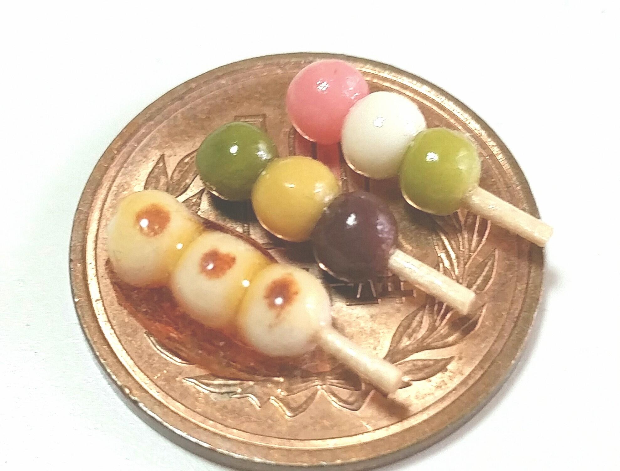 和菓子,ミニチュア,みたらし,三色,坊っちゃん団子,ドール用品小物