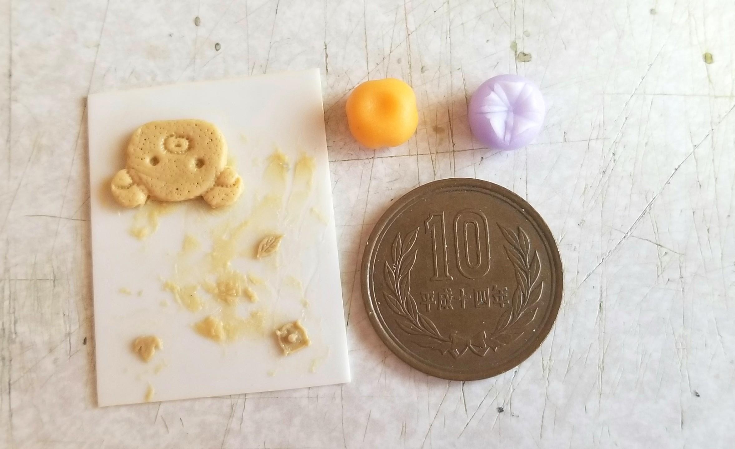 ミニチュア,エポキシパテ,原型,作り方,和菓子,樹脂粘土,ドールハウス