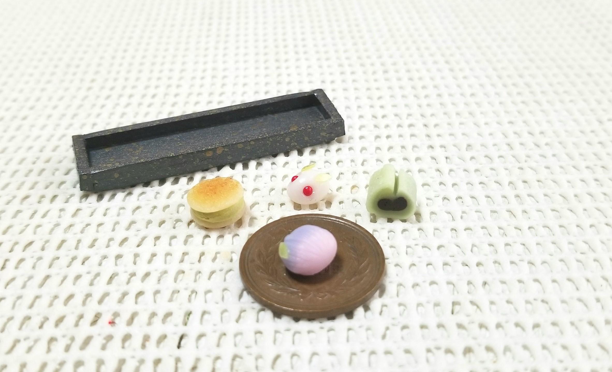 ミニチュアフード,和菓子,餡菓子,ミンネにて販売中,樹脂粘土,オビツ