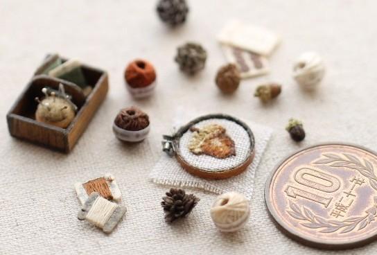 ミニチュア雑貨小物,有名おすすめ,樹脂粘土,リアル,本物みたい,刺繍