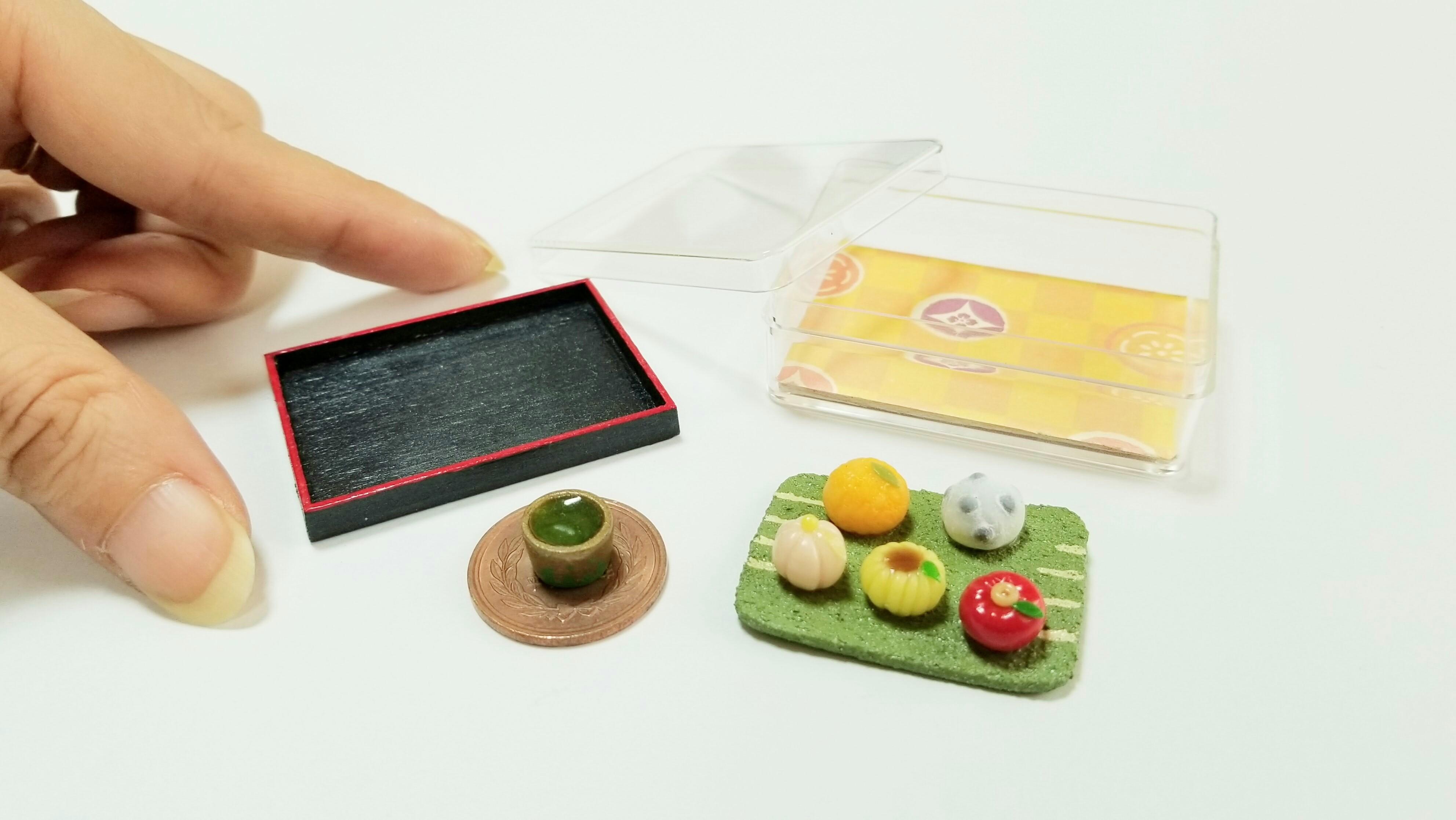 miniaturefoodspolymerclayartdollhousekawaiijapanesesweetwagashi