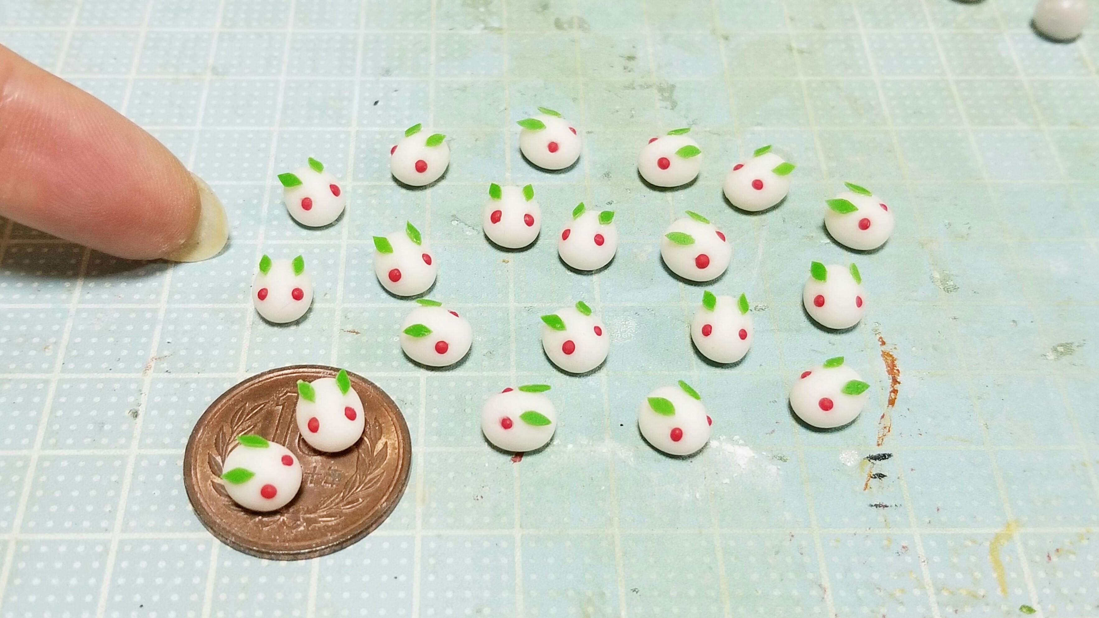 ミニチュアフードの作り方樹脂粘土かわいい和菓子うさぎ人気ブログ