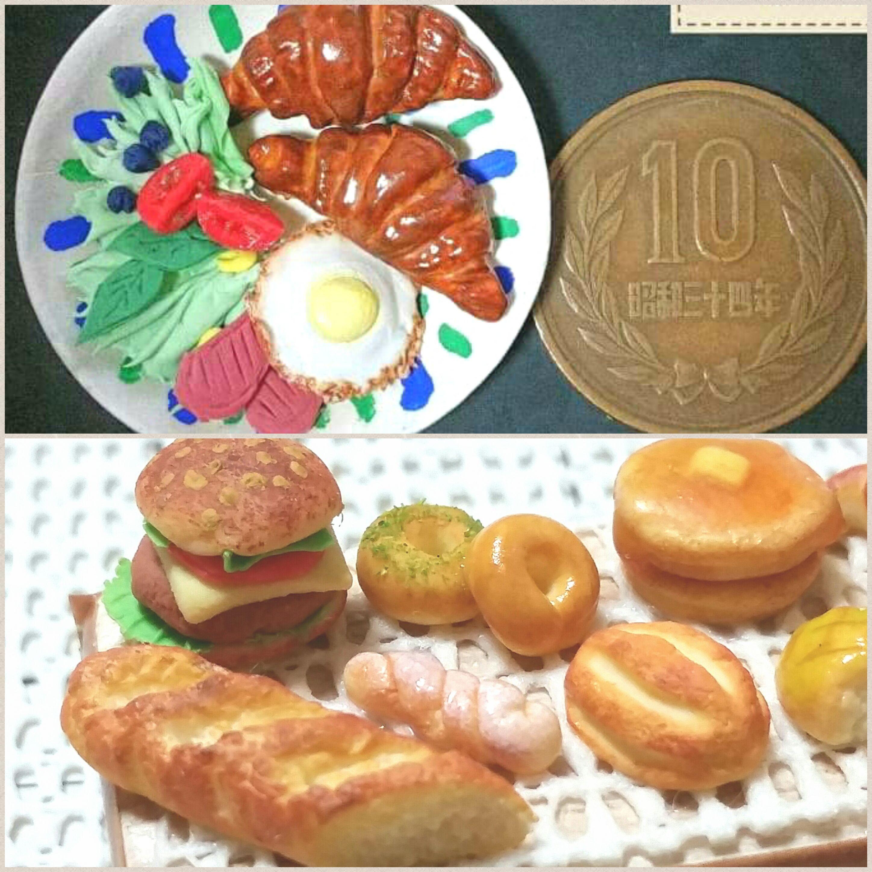 ミニチュアフード,小物,パン,食べ物,ハンドメイド,自作食品,手作り
