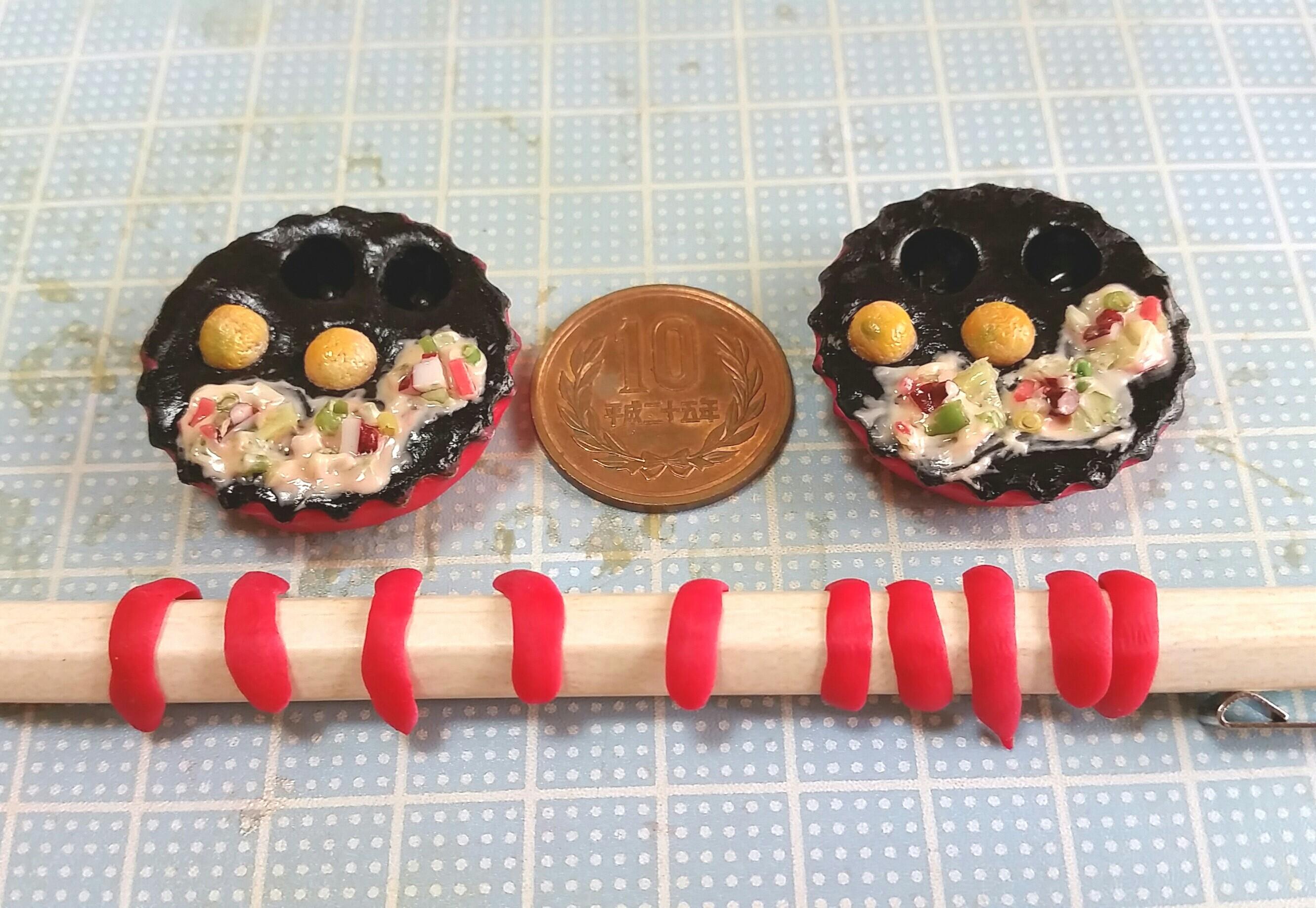ミニチュアフードまとめ画像,大阪名物おいしいたこ焼き,樹脂粘土