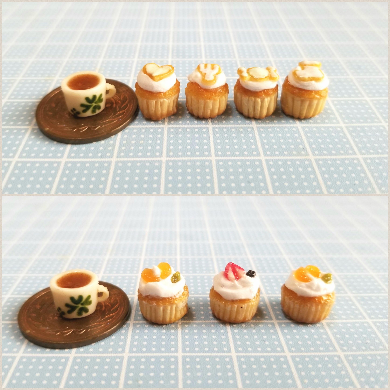 ミニチュアフード,クッキーカップケーキ,ドール小物,おもちゃ,ミンネ