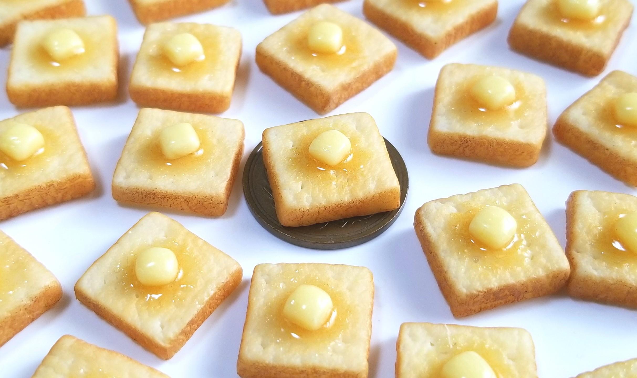 ミニチュアフード,食パン,バタートースト,樹脂粘土,オビツろいど,11