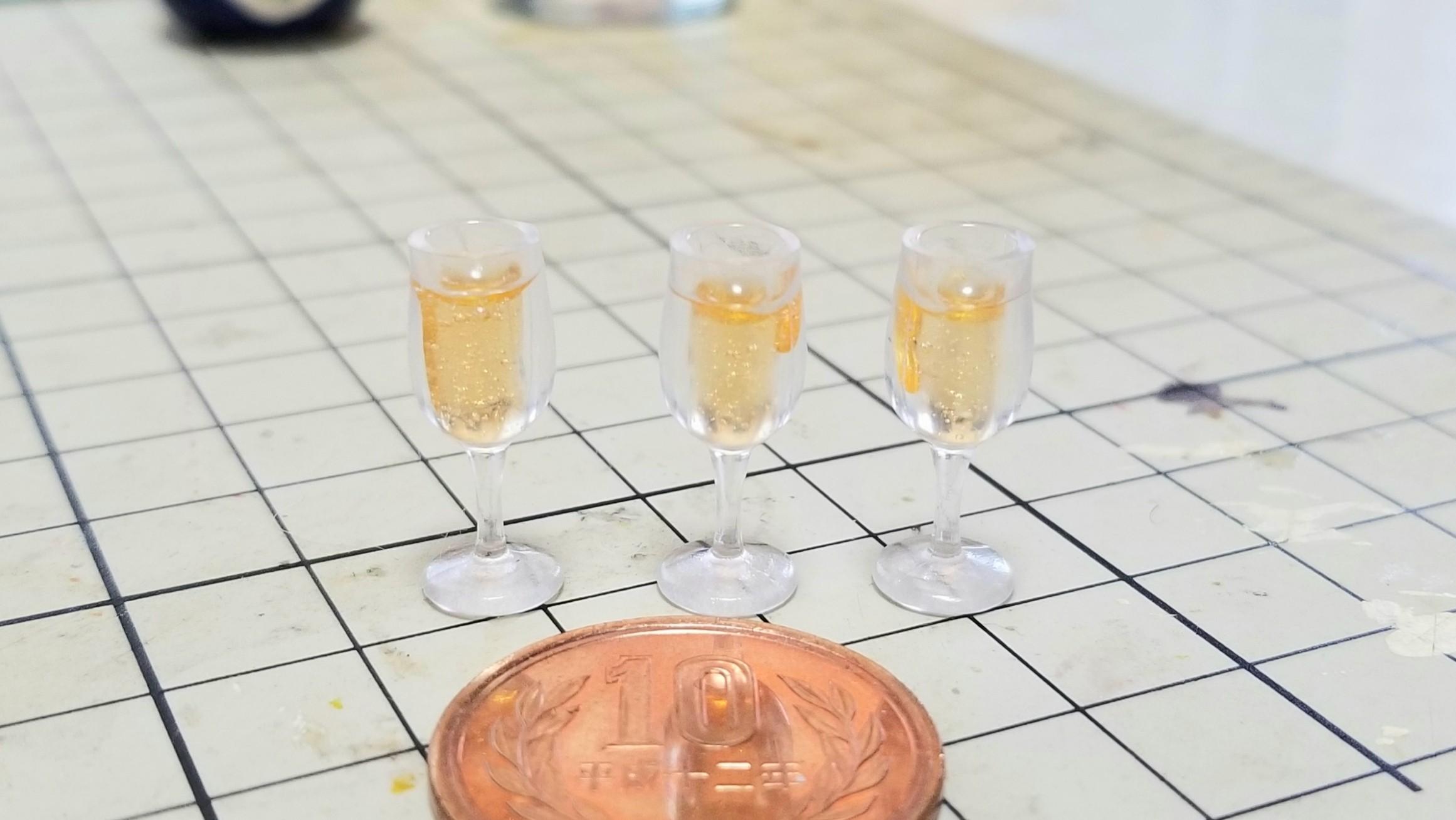 ミニチュアフードシャンパンワイン飲み物おいしいドール用品小物人気