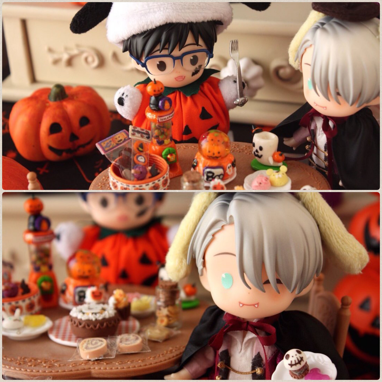 ハロウィン,オビツろいど勇利,お菓子いっぱい,楽しい,ドール遊び