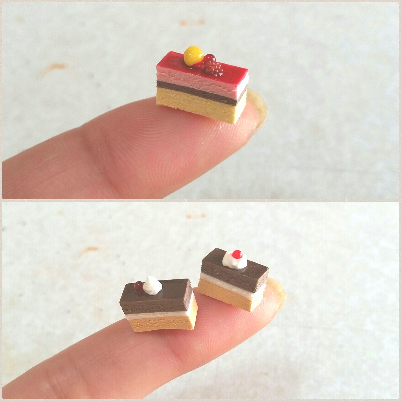 ショートケーキ,ミニチュアフード.樹脂粘土,チョコレート,ベリー