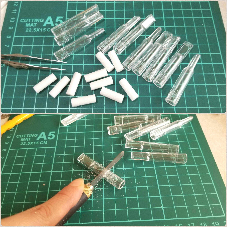 ミニチュア透明グラスの作り方,100均の禁煙パイポを活用,完全攻略