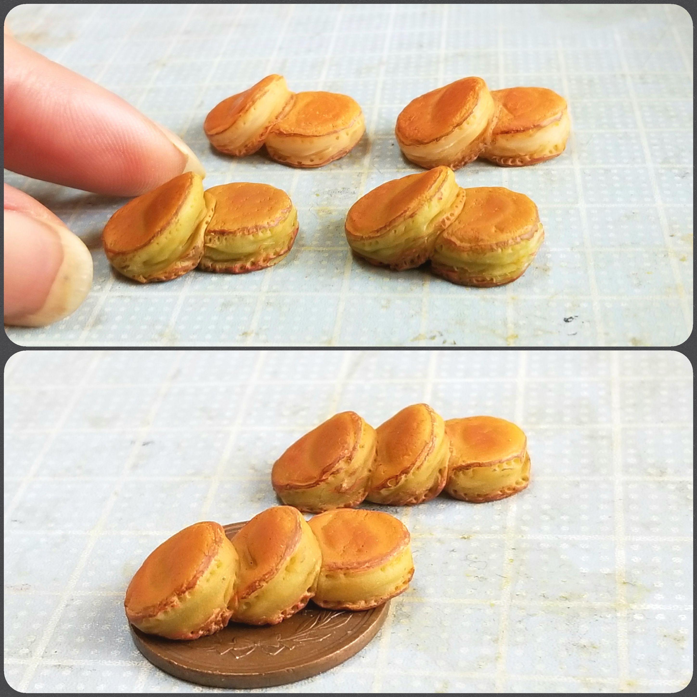 ホットケーキの作り方,ミニチュアフード,樹脂粘土,フェイクフード