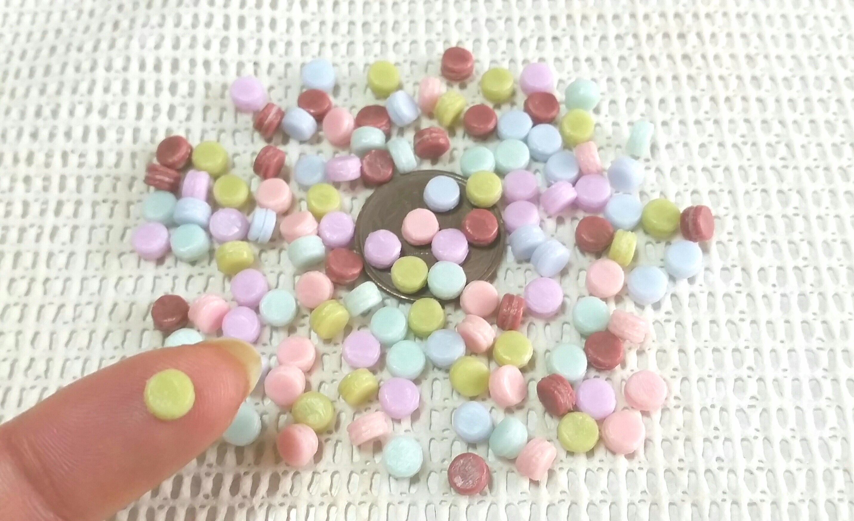 パステルマカロン,人気おすすめ美味しい,お洒落な,樹脂粘土,お菓子