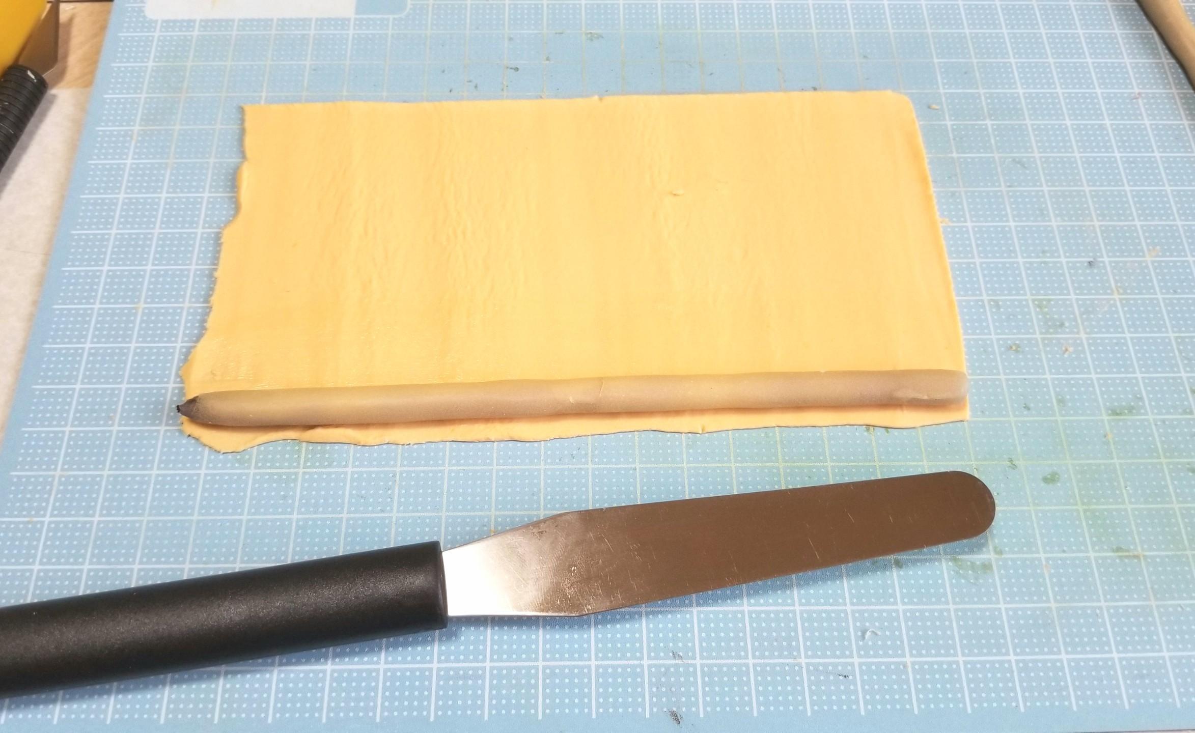 ミニチュアフード,柿菓子の作り方,和菓子,樹脂粘土,ハンドメイド