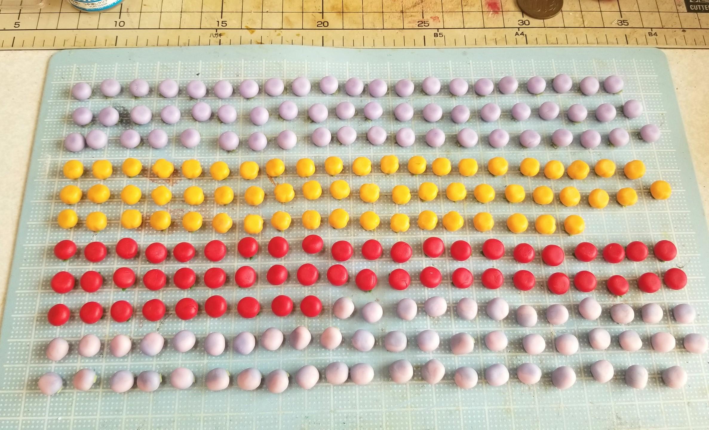 ミニチュアフード,和菓子,パーツ,作り方,樹脂粘土,ドールハウス
