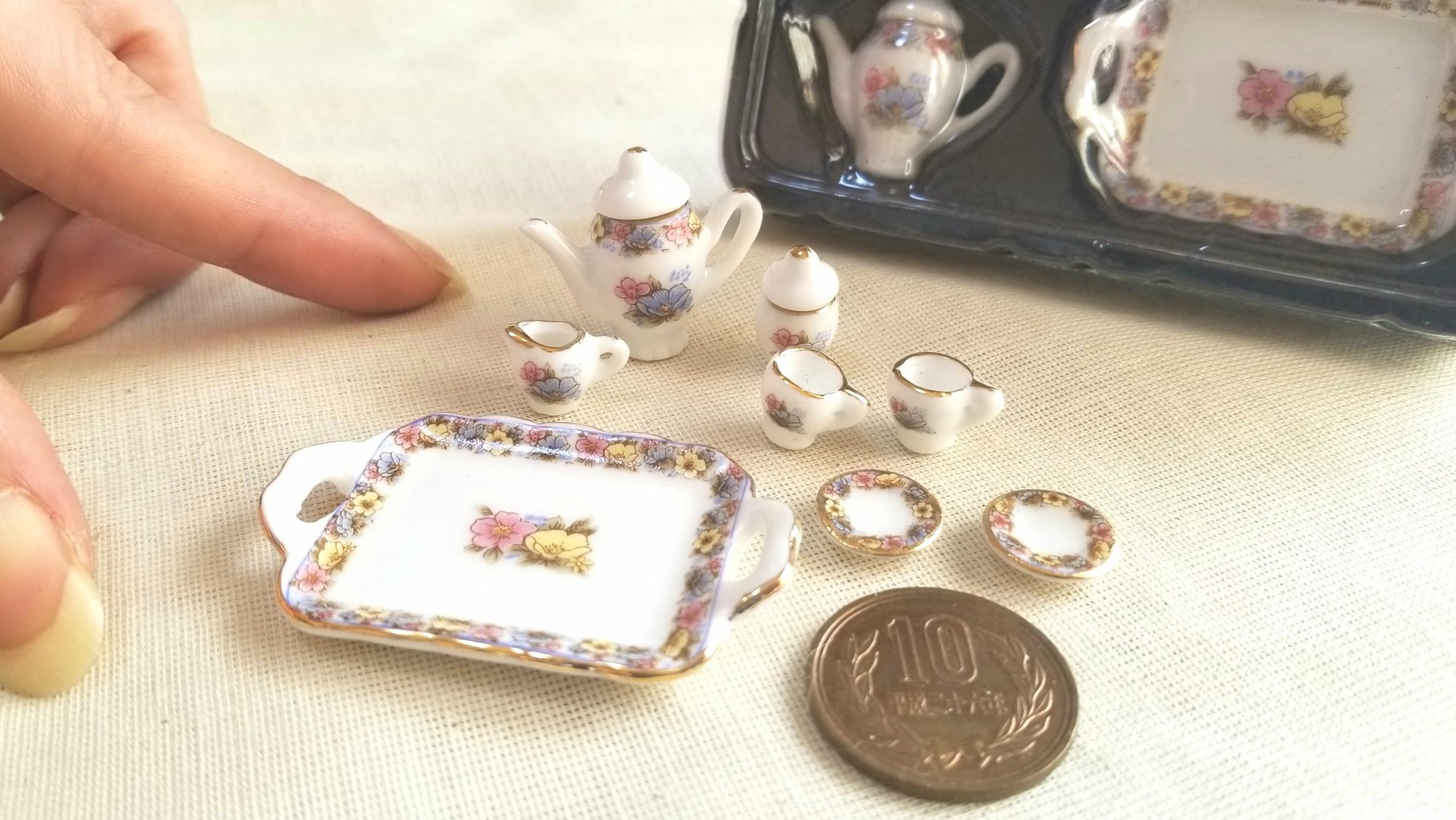 おすすめおもちゃ,ミニチュアフード,ドール用小物,陶器ティーセット