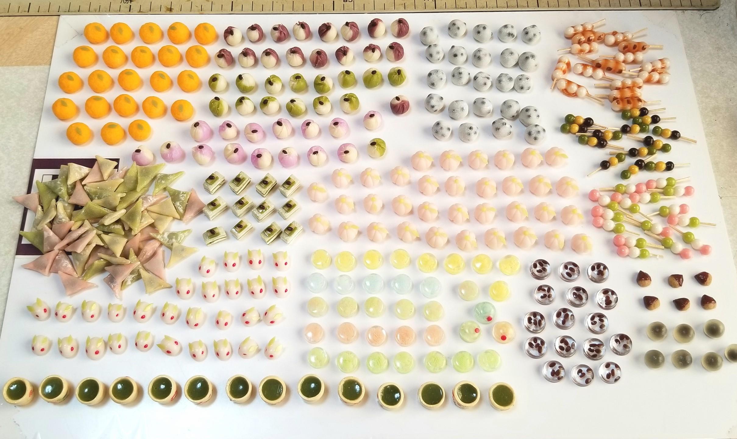 ミニチュアフード,和菓子,樹脂粘土,紙粘土,食品サンプル,シルバニア