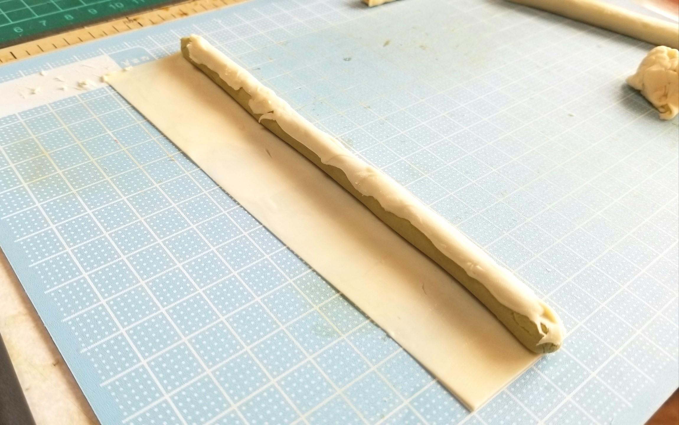 ミニチュアフード,和菓子,焼きカステラの作り方,樹脂粘土,サンプル