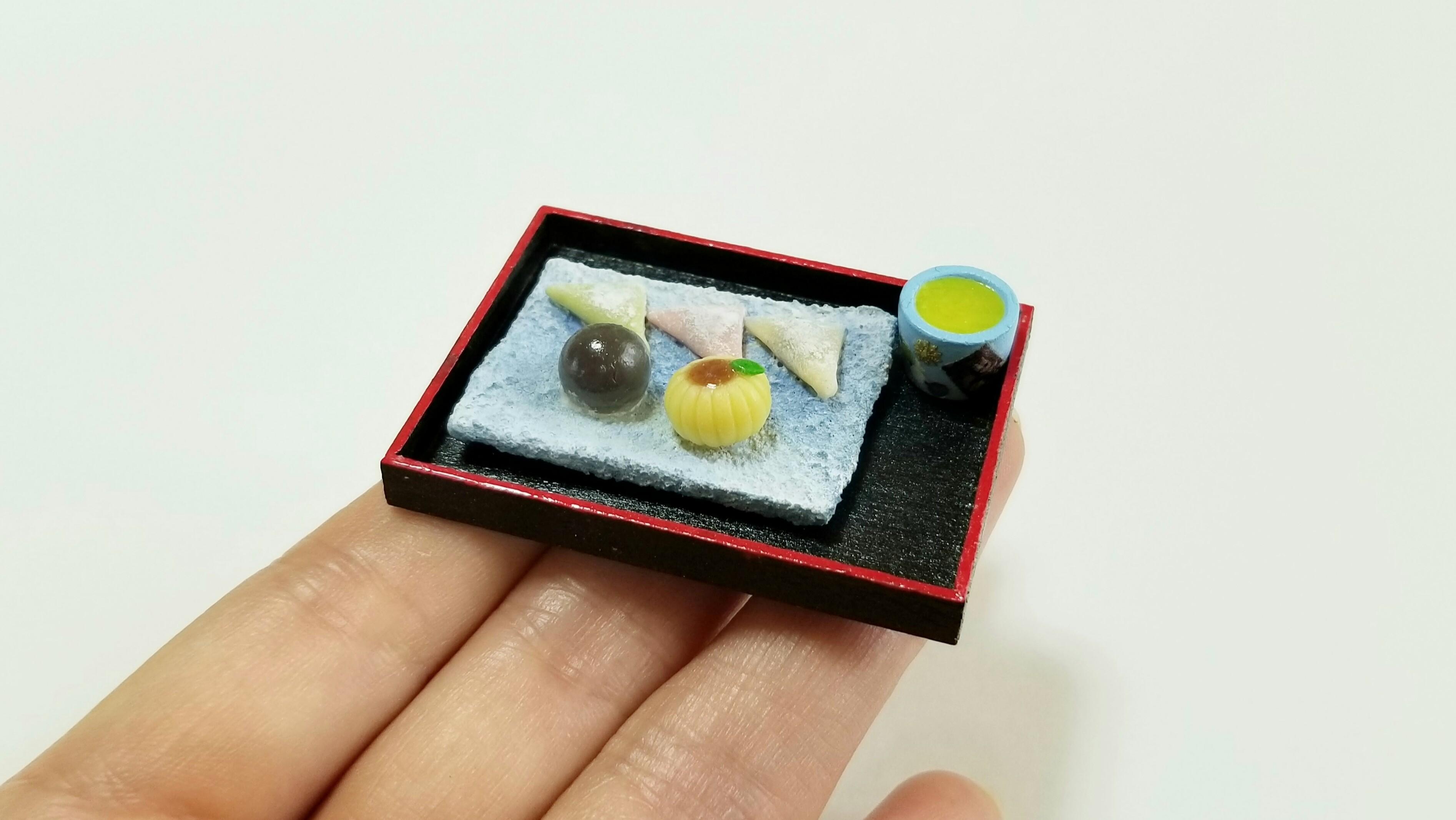 ミニチュアフードかわいいおすすめ和菓子樹脂粘土アート作品手作り