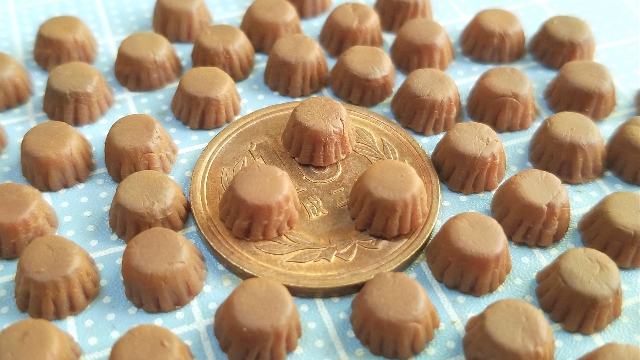 チョコレートカップケーキ,作り方,ミニチュア,食品サンプル,ドール