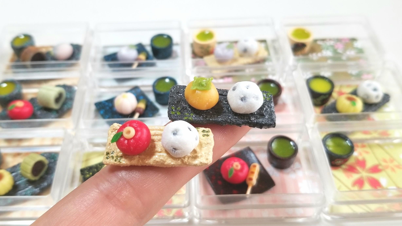 和菓子プチセット,ミニチュアフード,食品サンプル,オビツろいど