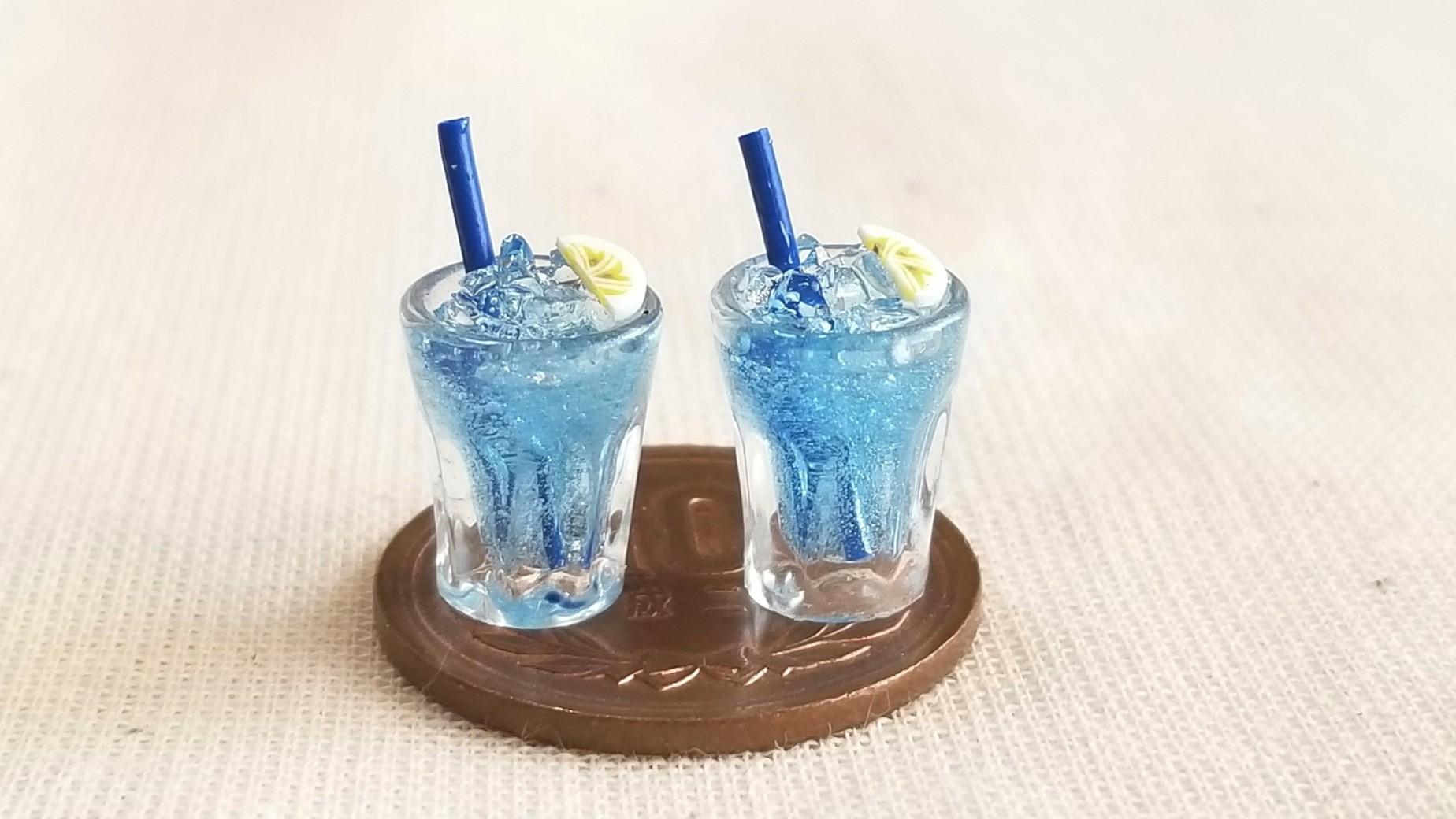 冷たいブルースカッシュ,夏らしいドリンク美味しそうなジュース