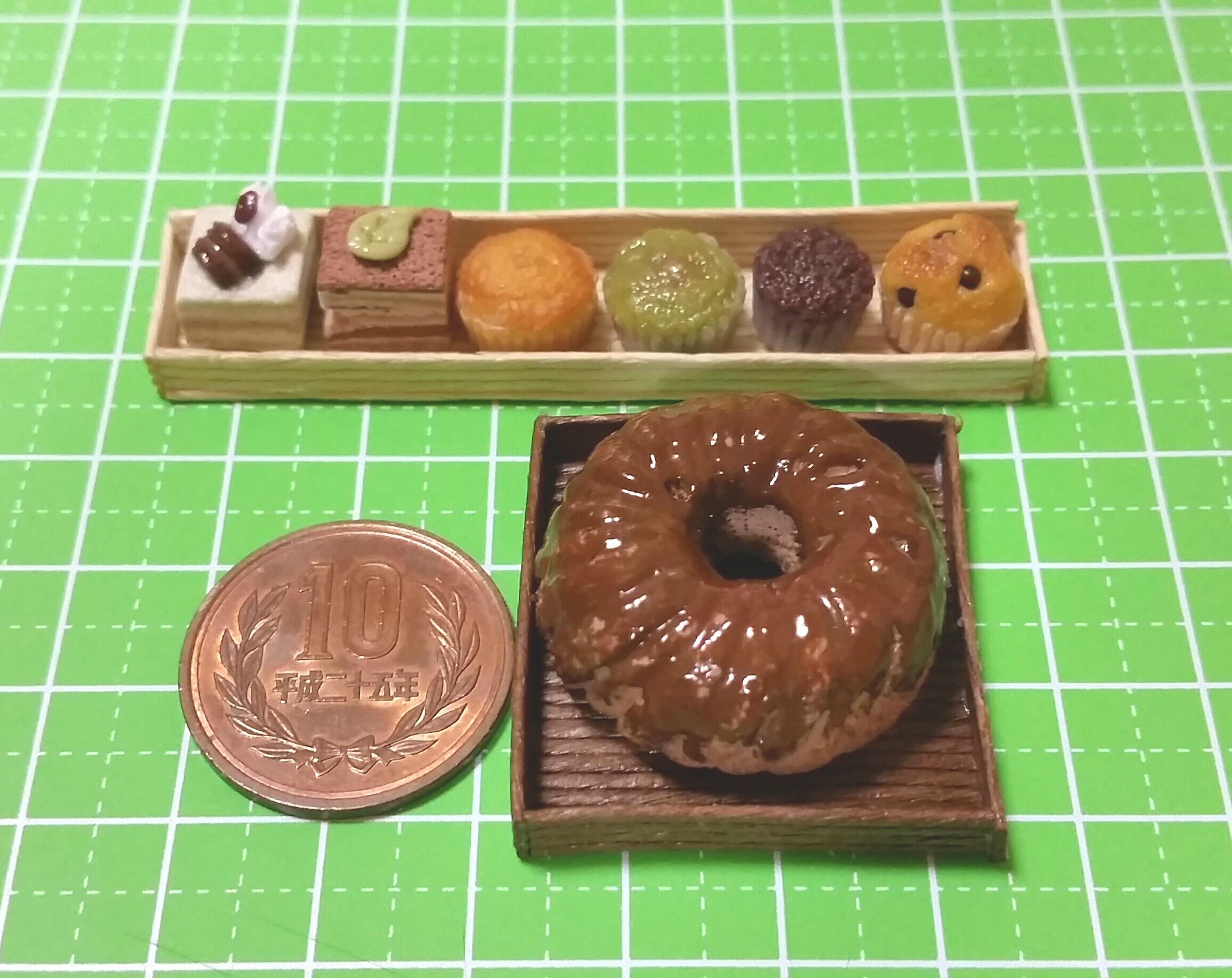 ミニチュアフード,模倣転売,おいしいチョコレートケーキ,紙樹脂粘土