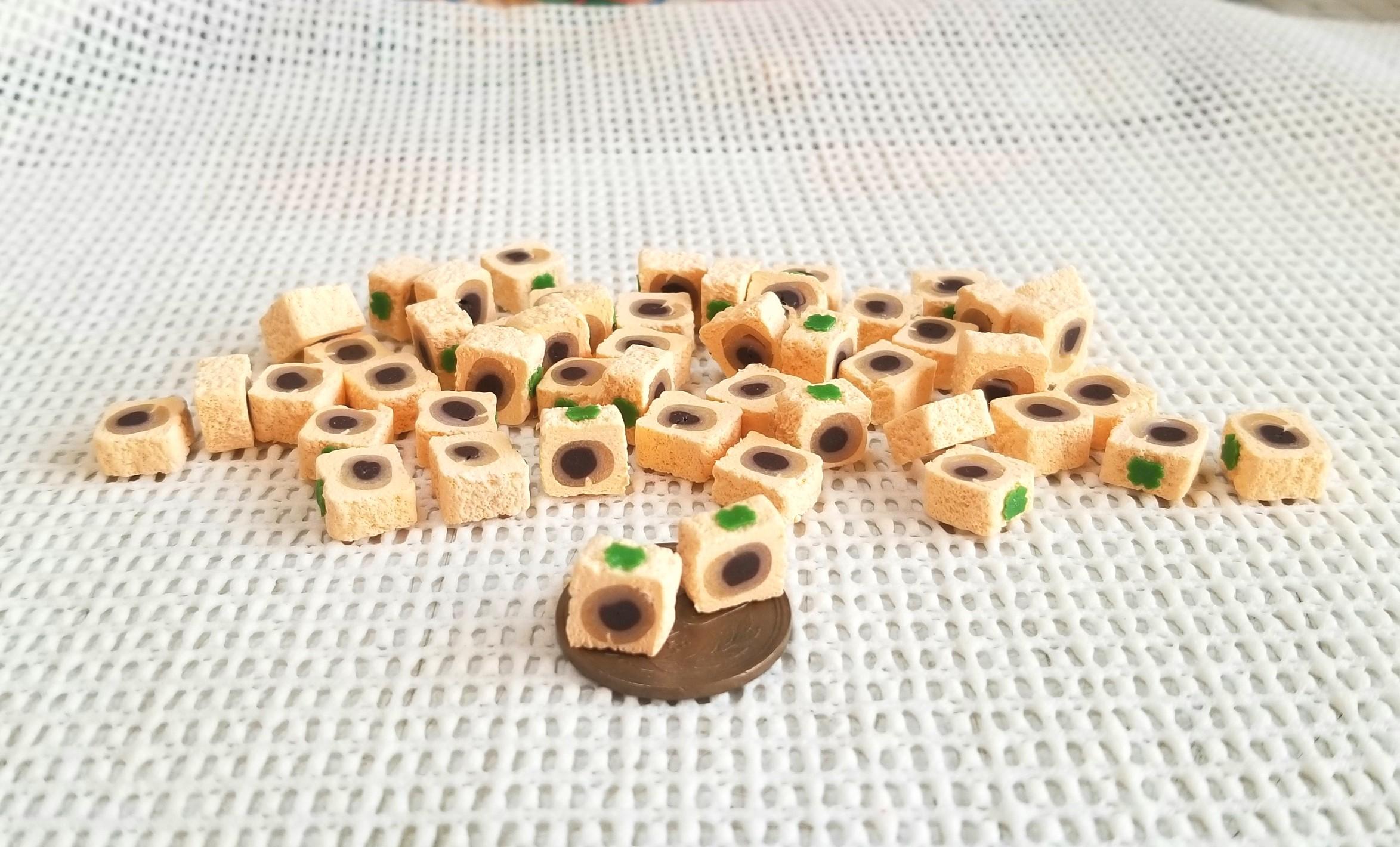 ミニチュアフード,和菓子,柿菓子,樹脂粘土,シルバニア,オビツ11