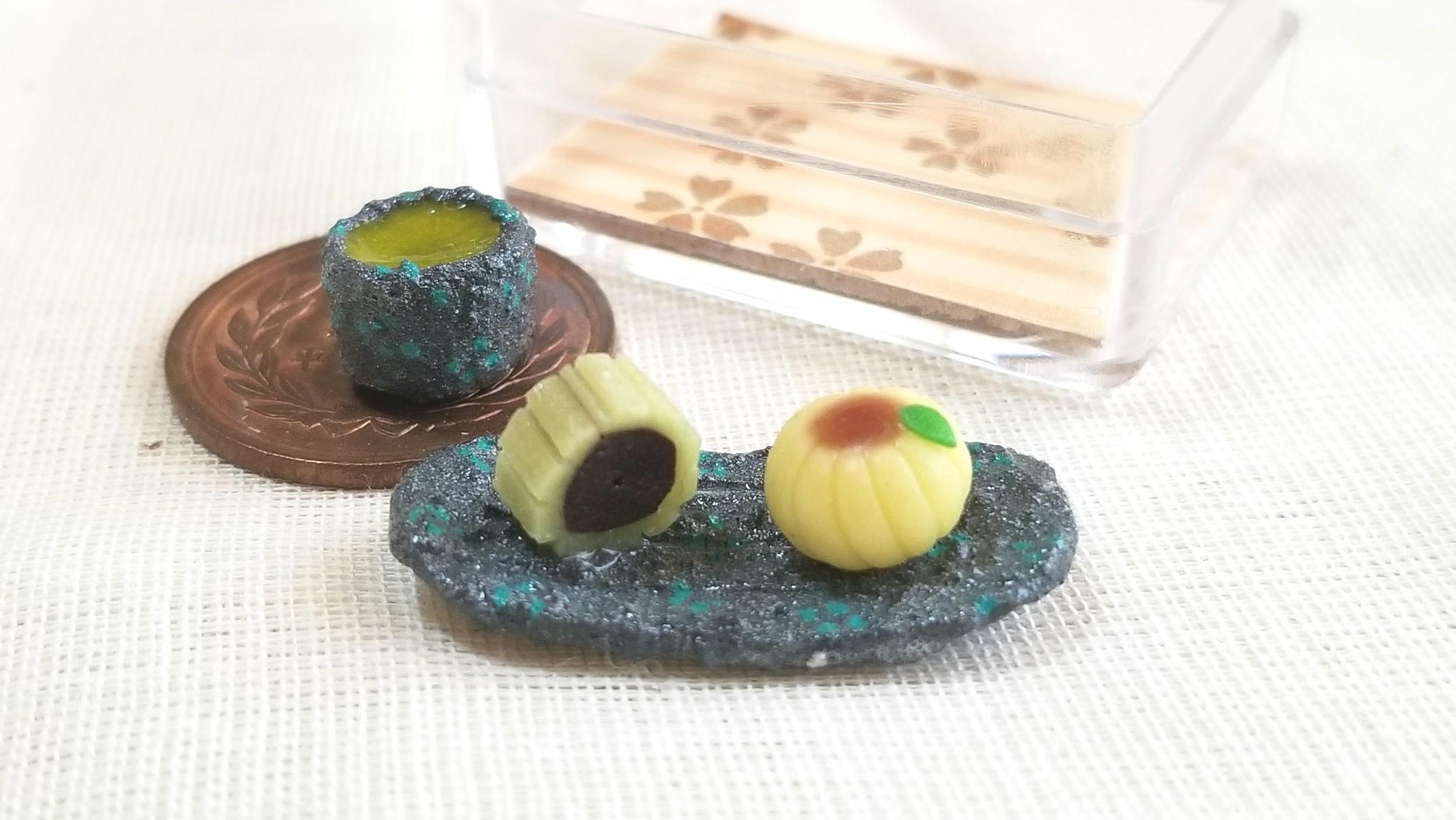和菓子,ひまわり,ミニチュア,ドール用小物,フェイクフード,樹脂粘土