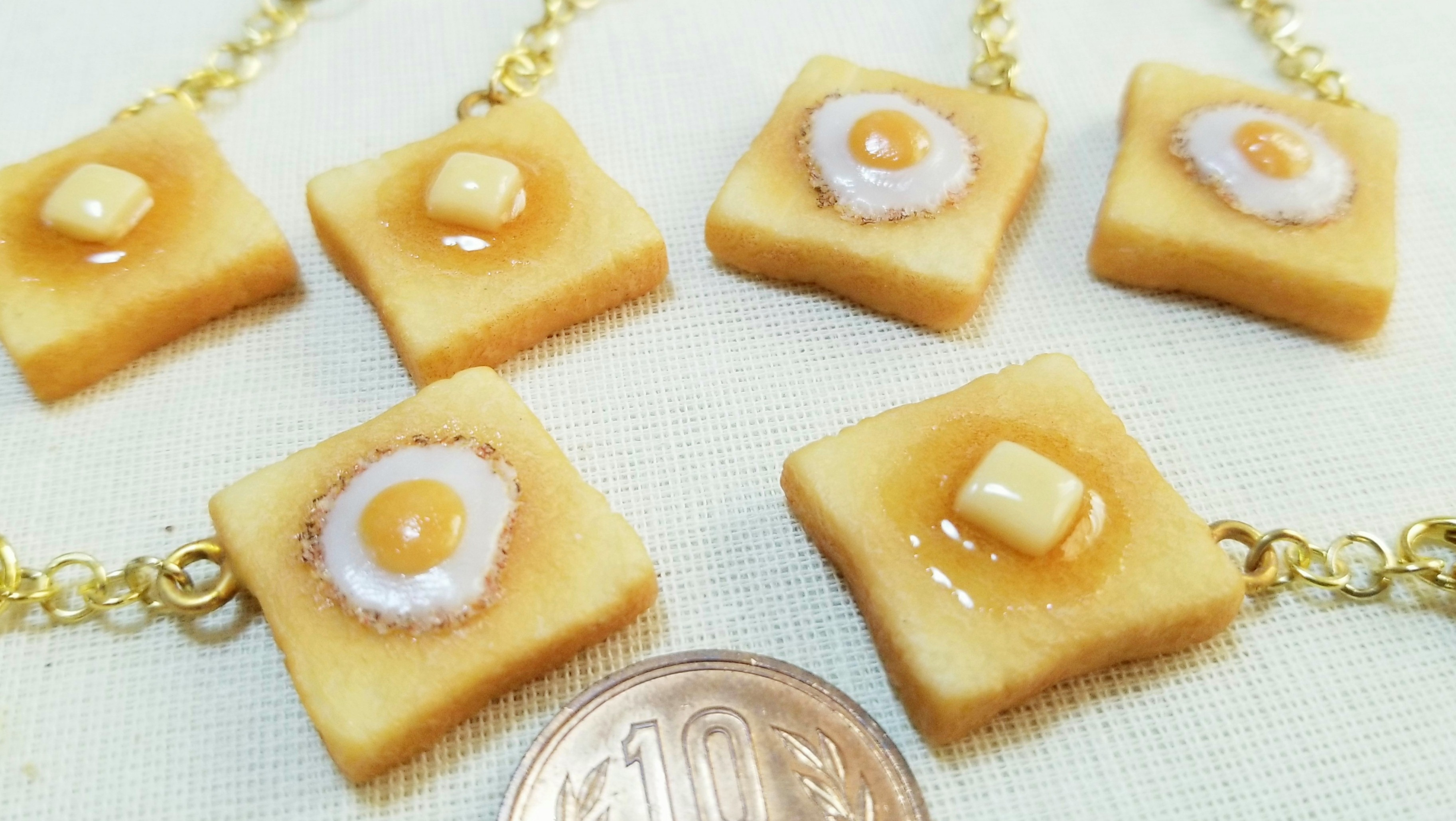 ミニチュアフードパントースト樹脂粘土ハンドメイドドール用品小物
